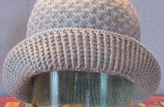 Женская шляпка крючком (схема и описание)