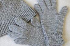 Комплект «Универсальный серый» (шляпка и перчатки)