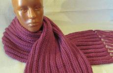 Пышный шарф спицами (описание)