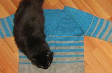 Три свитера и два жилета спицами