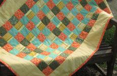 Детское лоскутное одеяло «Одуванчики»